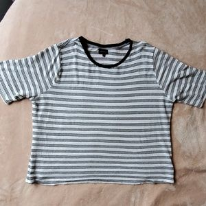 2X Black and white and silver T-shirt